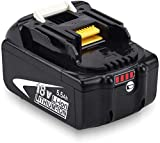 Batería de Repuesto BL1860B para Makita Batería 18V BL1860 BL1850B BL1850 BL1845 BL1840B BL1840B1818B BL1830 BL1825 BL1820 BL1815 LXT-400 con indicador