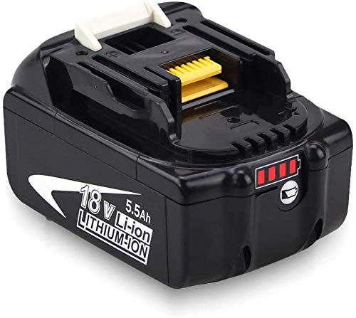 FUNMALL BL1860B 18V Reemplazo Batería para Makita BL1860B BL1860 BL1850B BL1850 BL1830B BL1830 BL1840B BL1840 BL1815 BL1825 BL1835 BL1845 LXT-400 con Indicador