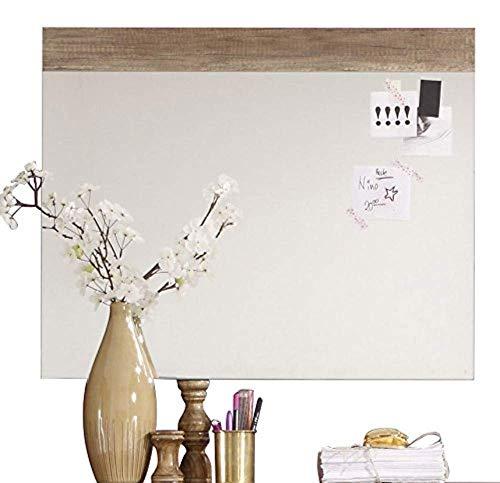trendteam smart living  Garderobe Wandspiegel Polo, 80 x 65 x 2 cm in Eiche Monument Dekor mit großer Spiegelfläche
