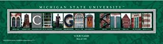 Campus Letter Art Michigan State University Personalized and Framed