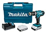 Makita HP457DWE10 Perceuse visseuse à percussion,...