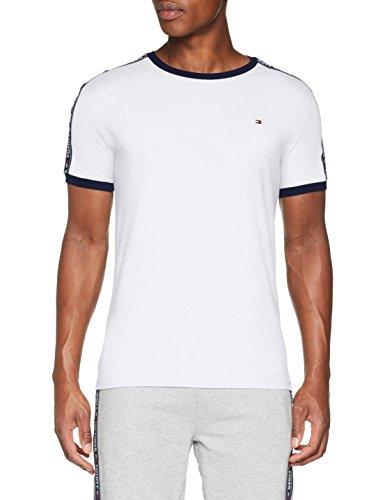 Tommy Hilfiger Herren Rn Tee Ss T-Shirt, Weiß (White 100), Large (Herstellergröße: LG)