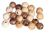 Rayher Assort. perles en bois, FSC 100%, 8mm, Tons Naturelles, ø