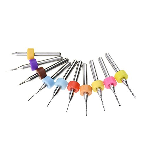 Zomiee 0.1mm-1mm Print Head Cleaner Drill Bits for 3D Printer Exturder Nozzle Cleaning (each size one pcs)