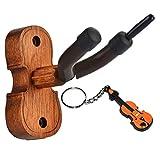 Moreyes Wandhalter für Violine, Holz, Bogenaufhängung mit 1 Violinen-Schlüsselanhänger