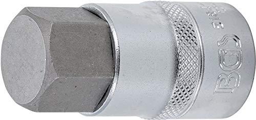 BGS 5184-H22 Bit-Einsatz Antrieb Innenvierkant 12,5 mm (1/2 Inch) Innensechskant 22 mm, Schlüsselweite