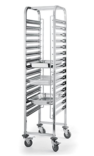 Heavy Duty 15 Level Gastronorm Racking Trolley 1/1/Commercial Kitchen Restaurant Bakery Food Tray Gastronorm Racking…
