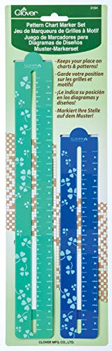 CLOVER 3164 Pattern Chart Magnetic Gage Place Marker Set, 8-1/2-Inch and 11-3/4-Inch