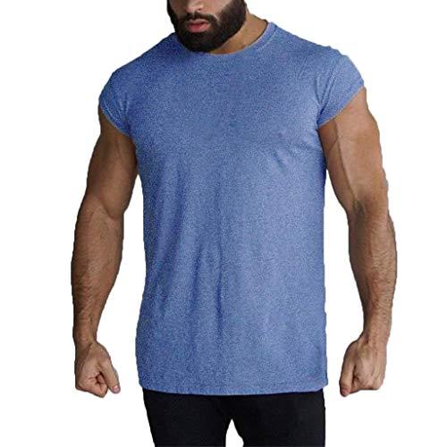 Camisetas de Tirantes Hombre,Verano Moda Hombre básica Casual Deporte Gym Camiseta sin Mangas Original Slim Fit Camisetas de Tirantes Color sólido Top Shirts Camisas Camiseta vpass