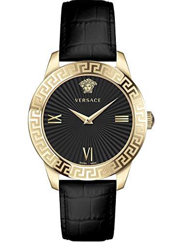 Versace Damen Armbanduhr GRECA S.38 MM D/BLK S/BLK IP2N V279 VEVC003 19