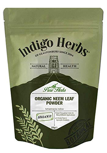 Indigo Herbs Organic Neem Leaf Powder 250g | Vegan | Non GMO | Ayurvedic Cleanser