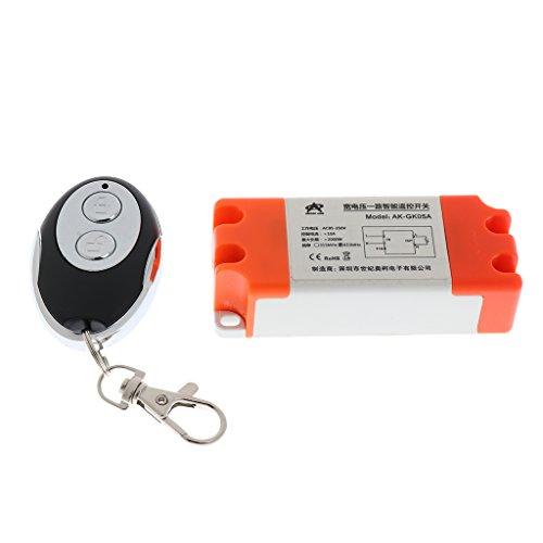 Sharplace Commutateur à Circuit Unique Interrupteur avec 2 Boutons Télécommande Porte Clé de Voiture Barière