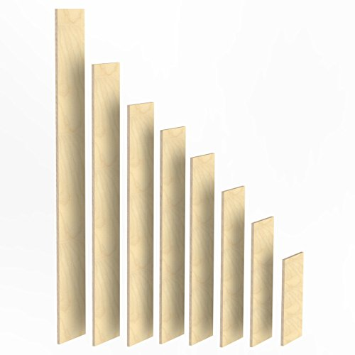 100mm Holz Bretter 21mm Multiplex Brett-Zuschnitte Längen 1m - 2m Birke Sperrholz Brett Länge: 1100 mm