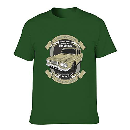 Camiseta de algodón para hombre, diseño con texto 'I Am Not Old I Am Classic Cool, duradera, estilo camisa Dark Green001. XXXL