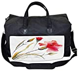 Lunarable Floral Gym Bag, Watercolor Style Carnation, Large Weekender Carry-on
