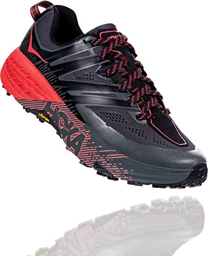 HOKA ONE ONE Womens Speedgoat 3 Running Shoe, Dark Shadow/Poppy Red, 9.5 B(M) US