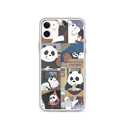 Compatible with iPhone 11 Case We Bare Bears Daily Moments American Animated Series Pure Clear Phone Cases Cover