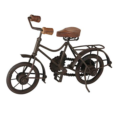 Whole House Worlds - Bicicleta Antigua Decorativa (Hierro de 28 cm)