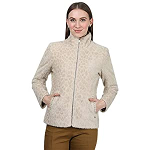 Monte Carlo Women Beige Printed Cotton Blend Jacket 16 41sQoAMGsuL. SS300