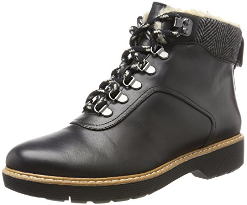 Clarks Damen Witcombe Rock Stiefel, Schwarz (Black Leather), 39.5 EU