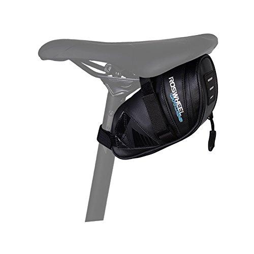 WOTOW Fahrrad-Satteltasche Rahmentasche Fahrradtasche Oberrohrtasche Fahrrad Rahmentaschen Fahrrad Tasche Mountainbike Bag Satteltasche mit Reflektierstreifen, Schwarz (Schwarz2)