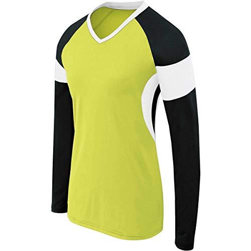 High Five Sportswear Unisex HighFive Girls Ls Raptor Jersey Hemd, Limonengrün/Schwarz/Weiß, Mittel