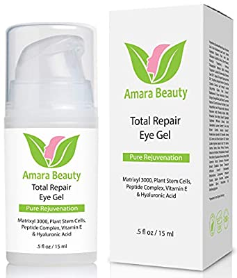 Eye Cream Gel For Dark Circles & Puffiness with Peptides & Hyaluronic Acid - 15 ml from Amara Beauty