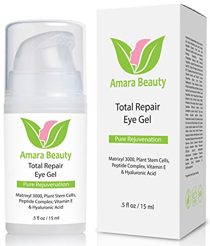 Eye Cream Gel for Dark Circles and Puffiness with Peptides & Hyaluronic Acid.5 fl. oz.