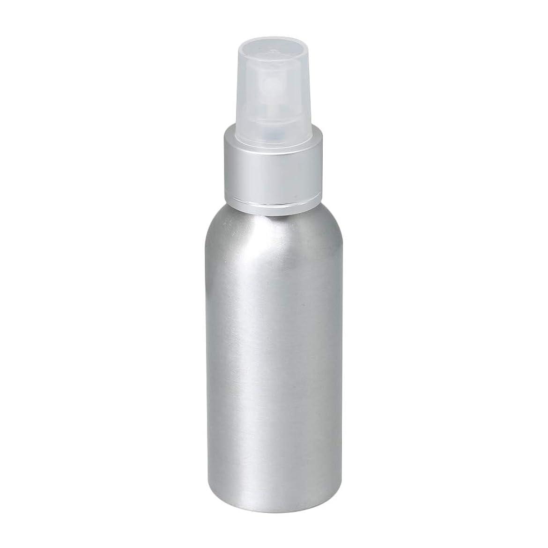 一目指すアナリスト100ml アルミ スプレーボトル 噴霧器 美容ボトル 小分け容器 化粧水 漏れ防止 女性用 香水ボトル 0.1-0.15 ml/t クリアノズル