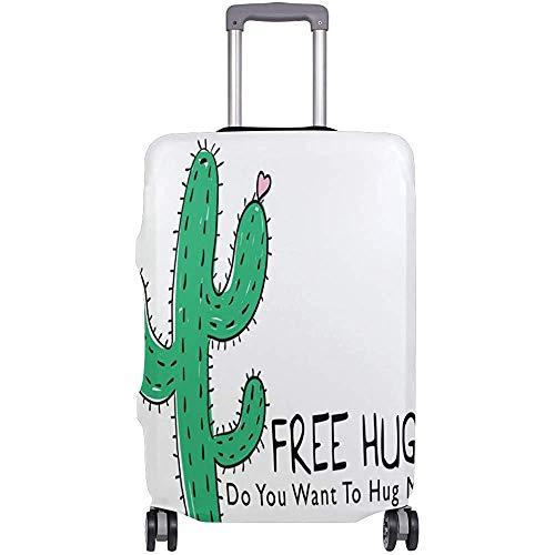 Funda de Equipaje Abrazos Gratis Cactus Maleta Protector Equipaje de Viaje Talla S