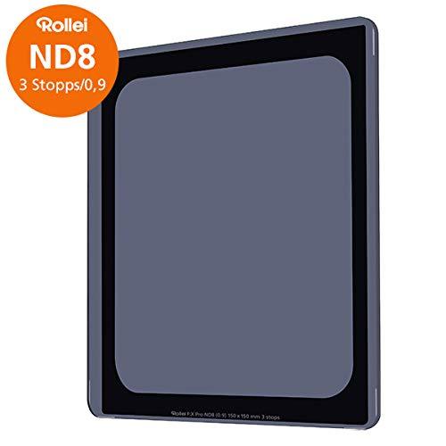 Rollei Filter F:X Pro ND 8 Filter I Graufilter 150mm aus Gorilla-Glas mit Luminance Coating I Ideal für Langzeitbelichtungen am Tag