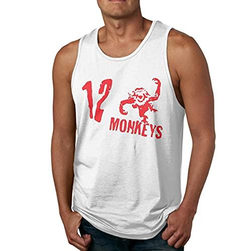 going Mens T-Shirt The 12 Monkeys Logo Gym Sleeveless Tank Tops Camisetas y Tops(Medium)