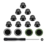 Obeka 5 Pairs Replacement Analog Stick Joystick Thumbsticks with Thumb Grips and Screwdriver for Playstation DualShock 4 PS4 Controller