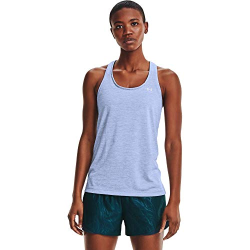 Under Armour Tech Twist - Camiseta de Tirantes para Mujer, Mujer, Camiseta, 1275487-421, Azul Washed Blue Metallic Silver 421, Extra-Large