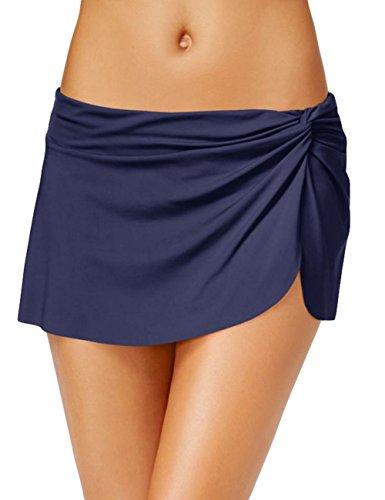 SELUXU Mujer Tankini Deporte clásicos Pantalones Cortos de natación Bottom con Mini-Falda