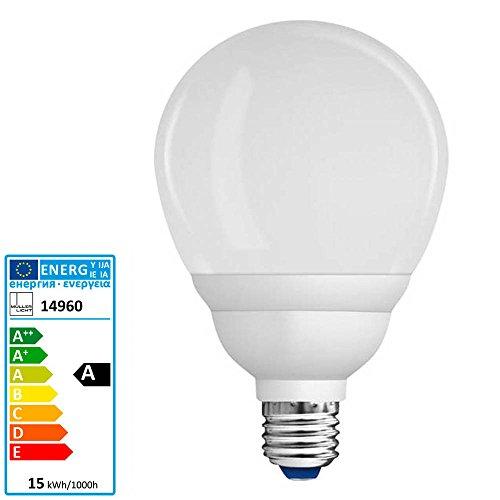 mächtig Energiesparlampe Mullerricht Globe R90E27 15 W2700 Kelvin 820 Lumen 10000 Stunden