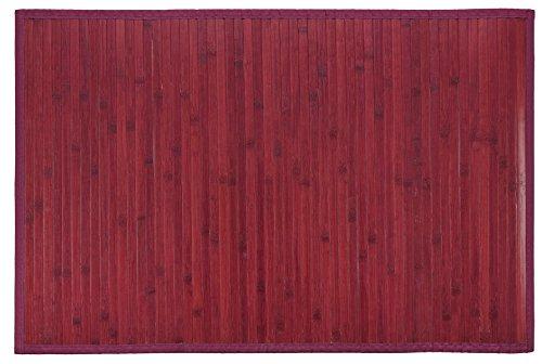 Clara Vidal Bertha Hogar- Alfombra Bambú Kanda, Color Burdeos (120 x 180 cm)