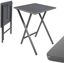 dcasa - Mesa cuadrado plegable gris 48x48x65 cm