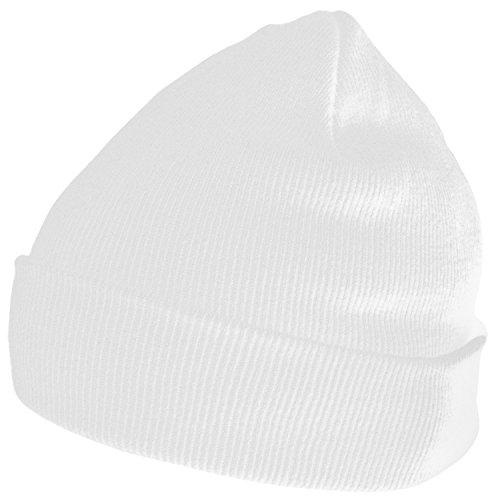 DonDon Wintermütze Mütze warm klassisches Design modern und weich weiß