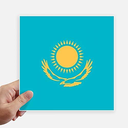 DIYthinker Drapeau National Kazakhstan Asie Country Square Autocollants 20CM Mur Valise pour Ordinateur Portable Motobike Decal 4Pcs 20Cm X 20Cm Multicolor