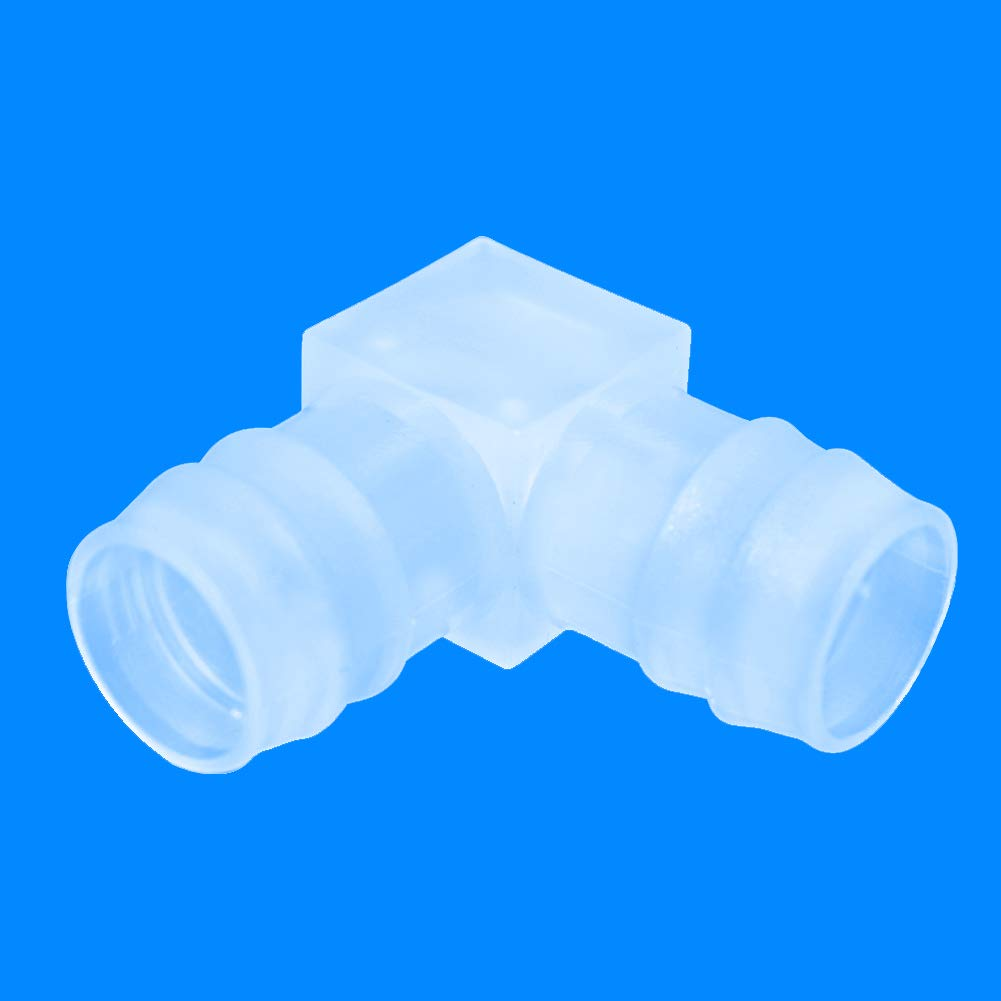 "JoyTube 3//8/"" Plastic Elbow Hose Barb Fitting 90 Degree Equal Barbed Joint Splicer Mender Adapter Union Adapter for Boat Aquarium Pack of 6"