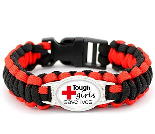 Paracord Bracelet For Nurses, EMT Bracelet, Paramedic Bracelet and Medical Workers Bracelet, Gifts for Nurses, Nurses Gift