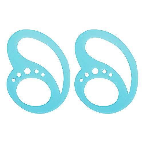 1 par de pinzas para la correa de fijación de auriculares, material de silicona suave y cómodo antideslizante para auriculares, gancho para la oreja(azul)