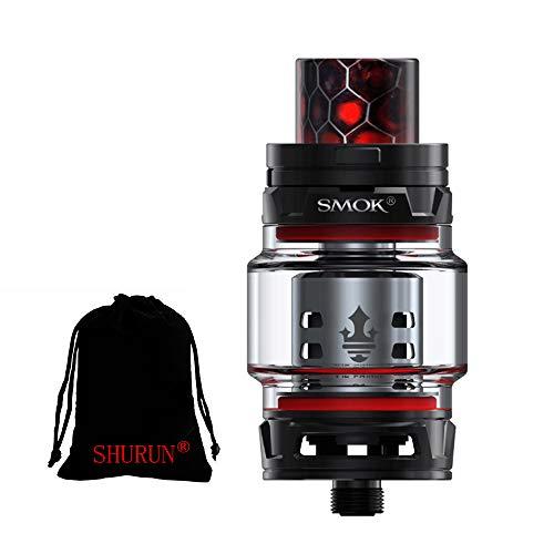 Original Smok TFV12 Prince Tank 8ml Capacity mit TFV12 Prince Coils ohne Nikotin inklusive SHURUN Aufbewahrungstasche (Schwarz)