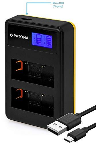 Patona 181957 - LCD Dual Cargador (USB Conector) batería para Fujifilm NP-W126 y NP-W126s