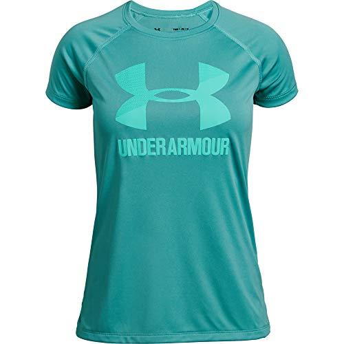 Under Armour Mädchen Big Logo Tee Solid SS Kurzarmshirt, Grün, YMD