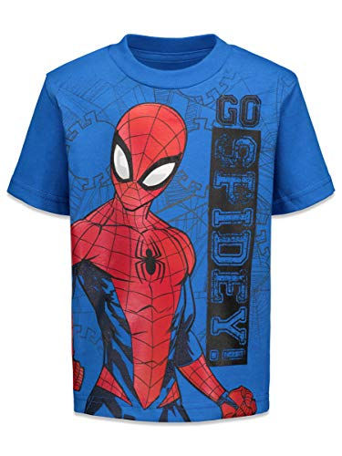 Product Image 3: Marvel Spiderman Toddler Boys 4 Pack Graphic T-Shirts 4T