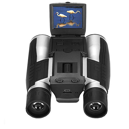 "Vazussk 2"" HD Digital Binoculars Camera 12x32 5MP Video Photo Recorder for Bird Watching Football Game with 16GB TF Card"