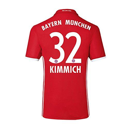 adidas Trikot FC Bayern München 2016-2017 Home (Kimmich 32, XXL Boys - 34-36