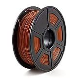 NO LOGO WSF-3D Prints, Materiale Stampante 1pc 3D filamento PLA 1.75mm 3D consumabili plastici filamento 3D PLA (Colore : Brown)